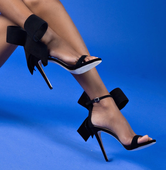 BLACK SUEDE OPEN TOE