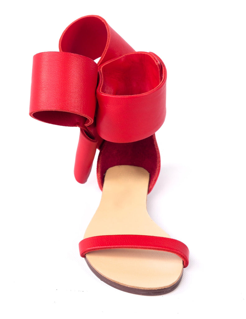 KIDS BOW SANDAL RED