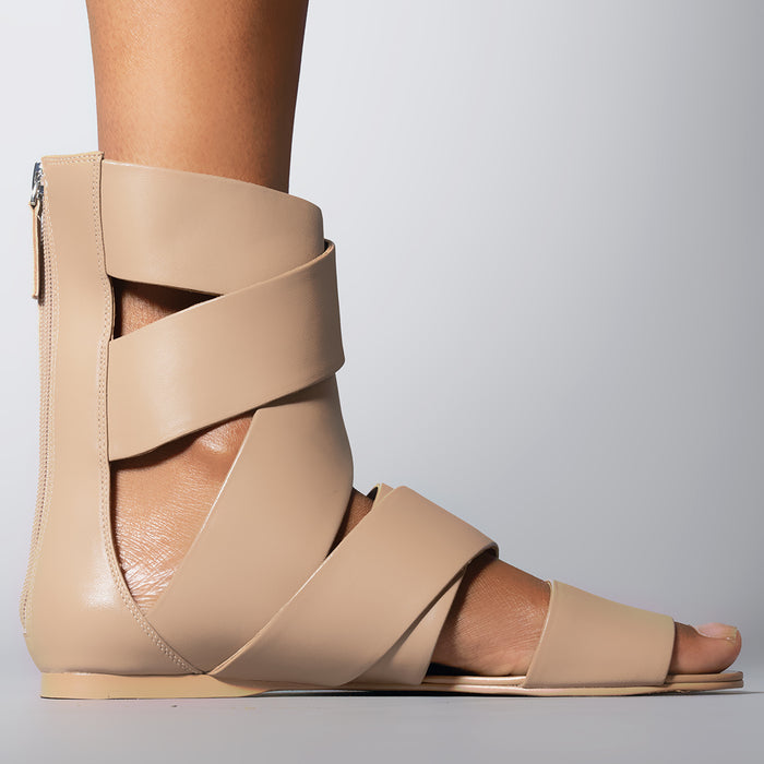 WRAP SANDAL TAN