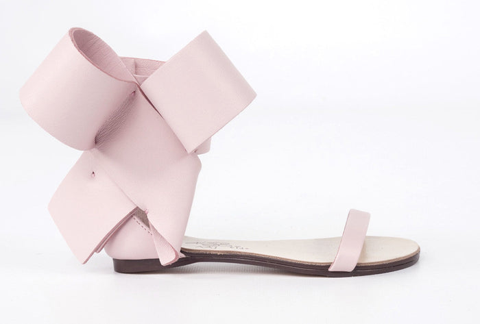 KIDS BOW SANDAL BLUSH NUDE