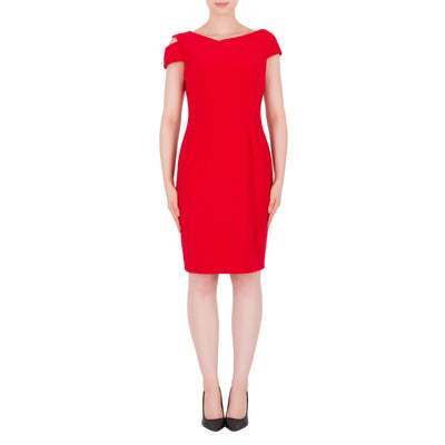 Joseph Ribkoff Dress Style 191044 Lipstick Red