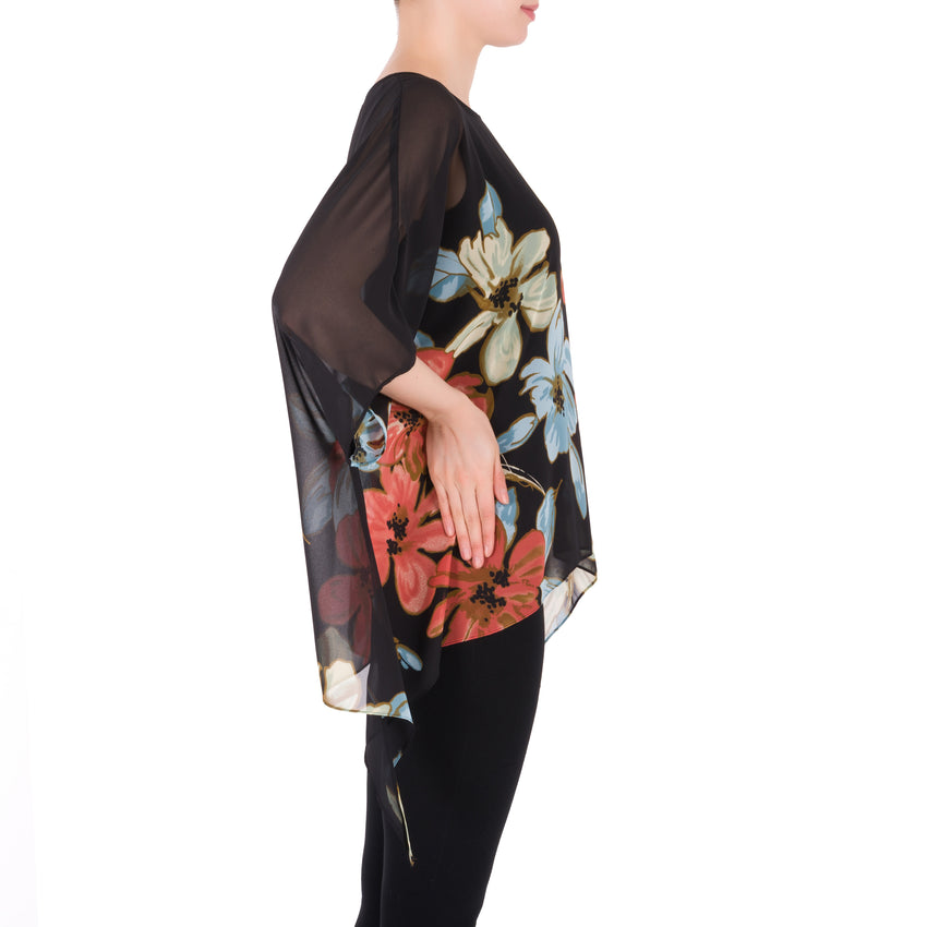 Joseph Ribkoff Cover Up Style 191630 Black Multi