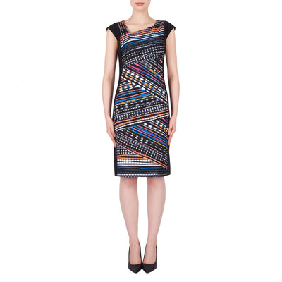 Joseph Ribkoff Dress Style 191647 Multi Black