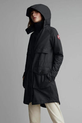 Ladies Canada Goose Cavalry Trench in Black