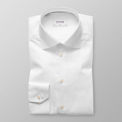 ETON® | Slim Fit Signature Twill Shirt - White