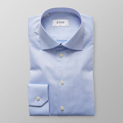 ETON® | Slim Fit Signature Twill Shirt - Light Blue