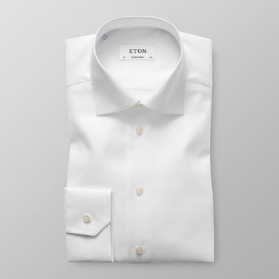 ETON® | Contemporary Fit Textured Twill Shirt - White