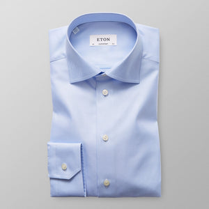 ETON® | Contemporary Fit Textured Twill Shirt - Light Blue