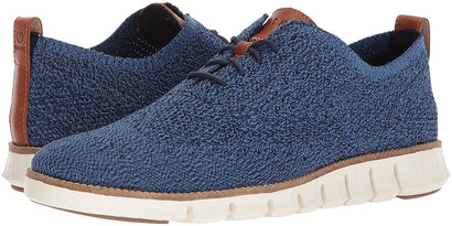 Cole Haan Men's ZERØGRAND Wingtip Oxford with Stitchlite™ in River Blue