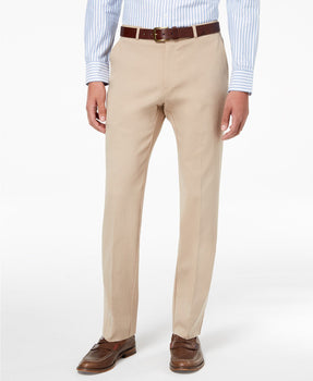 Tommy Hilfiger Modern-Fit TH Flex Stretch Comfort Mens Dress Pants Tan