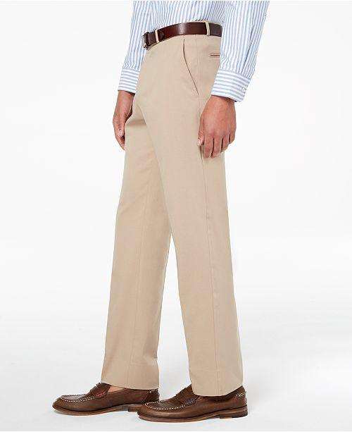 cb3a5095e8 ... Tommy Hilfiger Modern-Fit TH Flex Stretch Comfort Mens Dress Pants Tan  ...