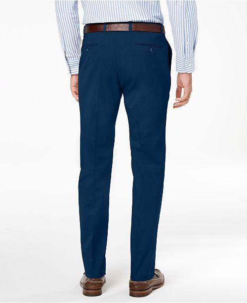 7f9b538319 ... Tommy Hilfiger Modern-Fit TH Flex Stretch Comfort Mens Dress Pants Navy  ...