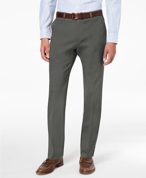 Tommy Hilfiger Modern-Fit TH Flex Stretch Comfort Mens Dress Pants Grey