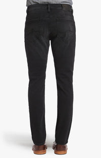 34 HERITAGE COOL TAPERED LEG JEANS IN BLACK SOFT COMFORT