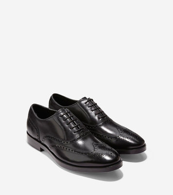 Cole Haan Hamilton Wingtip Oxfords in Black