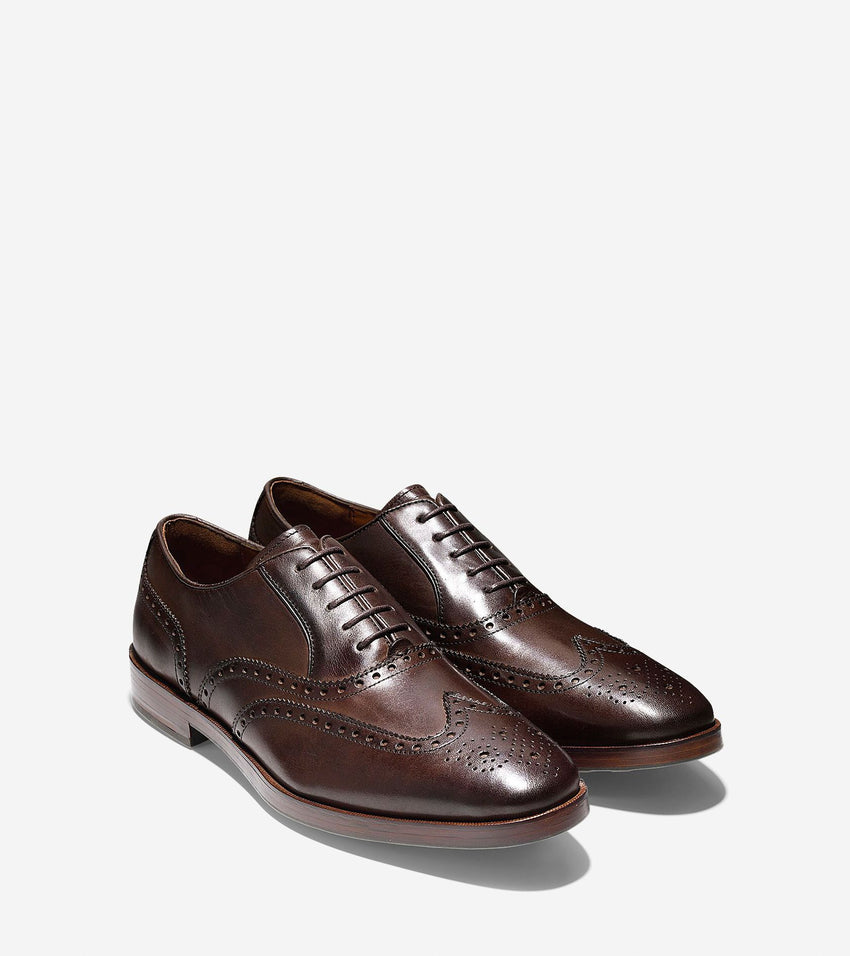 Cole Haan Hamilton Wingtip Oxfords in Dark Brown