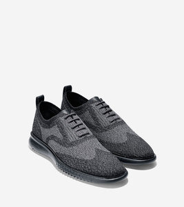 Cole Haan Men's 2.ZERØGRAND Oxford with Stitchlite™ in Black Magnet