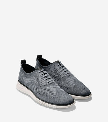Cole Haan Men's 2.ZERØGRAND Oxford with Stitchlite™ in Grey on sale at Freeds