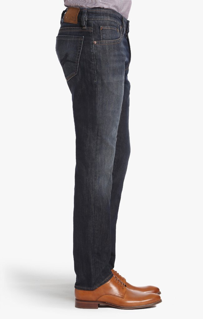 34 HERITAGE COOL TAPERED LEG JEANS IN DARK MERCERIZED