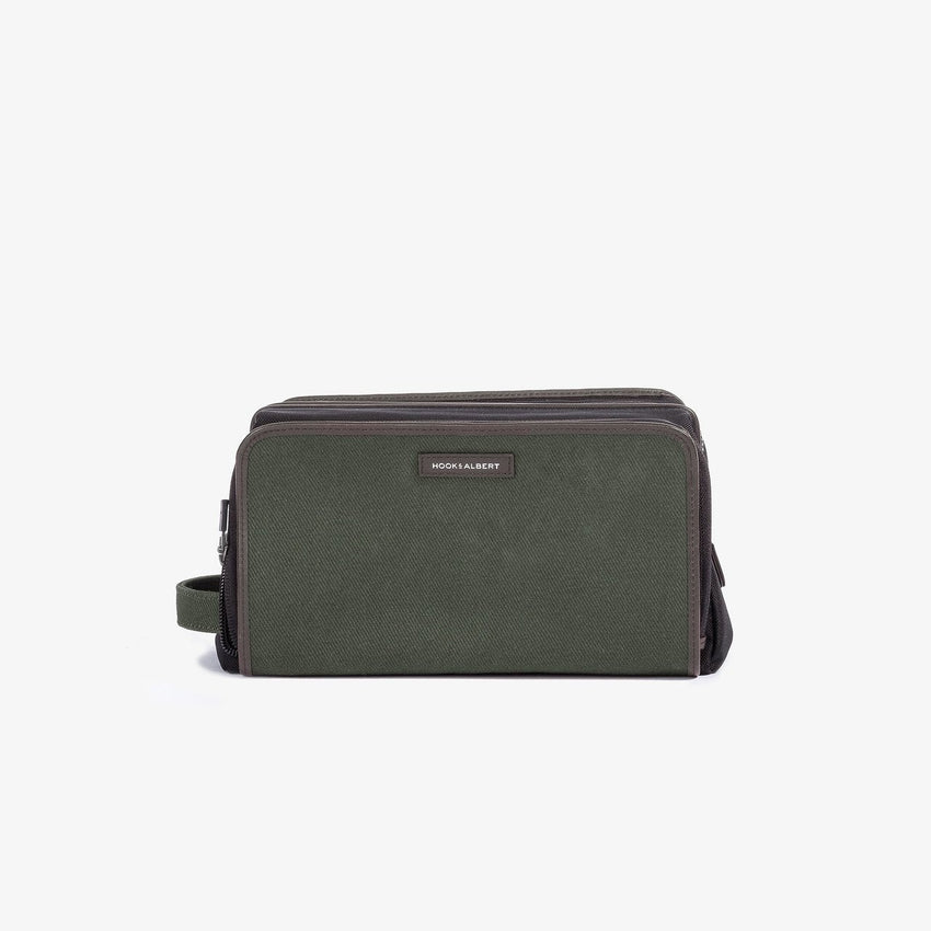 Hook & Albert Twill Travel Dopp Kit - Olive