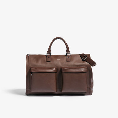 Hook & Albert Leather Garment Weekender Bag - Brown