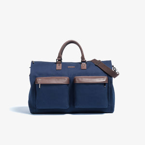 Hook & Albert Twill Garment Weekender Bag - Navy
