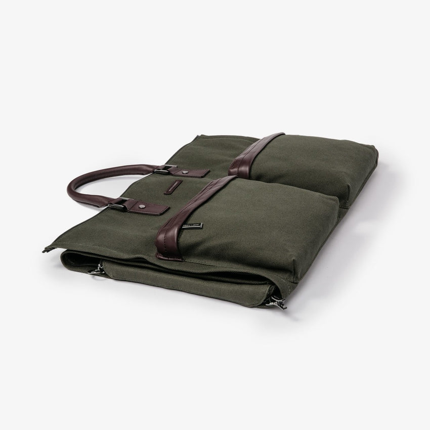 Hook & Albert Twill Garment Weekender Bag - Olive