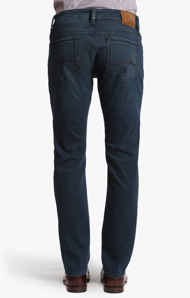 34 HERITAGE COOL TAPERED LEG JEANS IN MID MANHATTAN