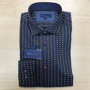 *NEW FASHION STYLE* Polifroni BLU | Slim Fit Non-Iron Dress Shirt - Blue