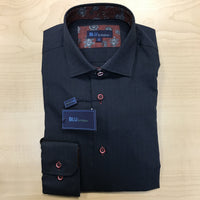 Polifroni BLU | Slim Fit Non-Iron Dress Shirt - Black