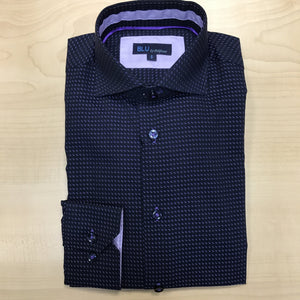 *NEW FASHION STYLE* Polifroni BLU | Slim Fit Non-Iron Dress Shirt - Purple Dot