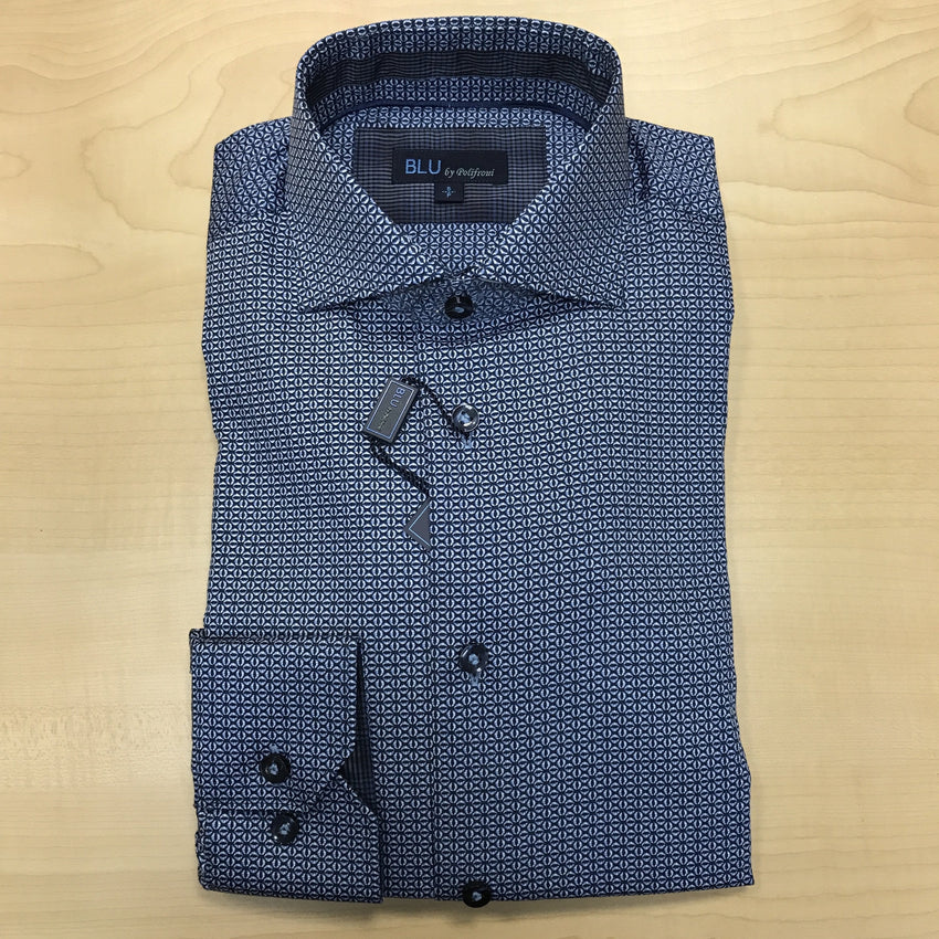 *NEW FASHION STYLES* Polifroni BLU | Slim Fit Non-Iron Dress Shirt