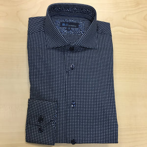 *NEW FASHION STYLE* Polifroni BLU | Slim Fit Non-Iron Dress Shirt - Black Check