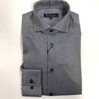 polifroni blu dress shirt grey