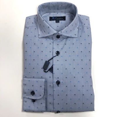 blue dot dress shirt