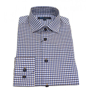Polifroni Blu Blue Checked Shirt