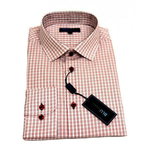 Polifroni Blu - Red Checked Dress Shirt