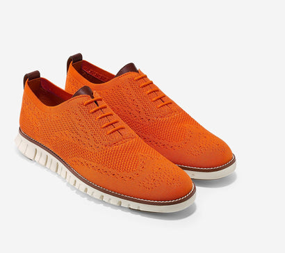 Cole Haan | Men's ZERØGRAND Wingtip Oxford with Stitchlite™ Orange