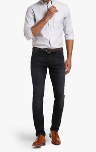 34 HERITAGE COOL TAPERED LEG JEANS IN DARK NIGHT
