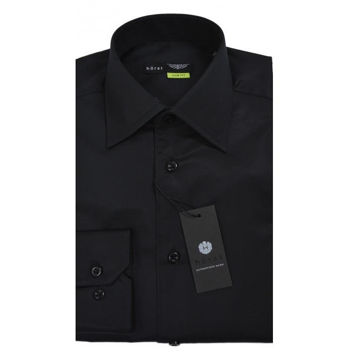HORST | Black Slim Fit Dress Shirt
