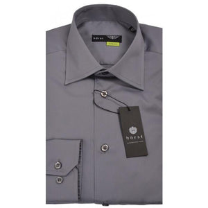 HORST | Grey Slim Fit Dress Shirt