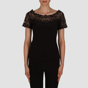 Joseph Ribkoff Top Style 181113 in Black on sale at Freeds