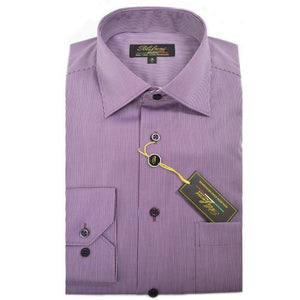 Polifroni Milano | Plum Striped Cotton Dress Shirt