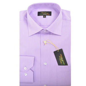 Polifroni Milano | Lavender Striped Cotton Dress Shirt
