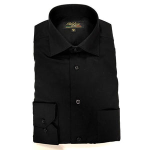 Polifroni Milano | Black Cotton Dress Shirt