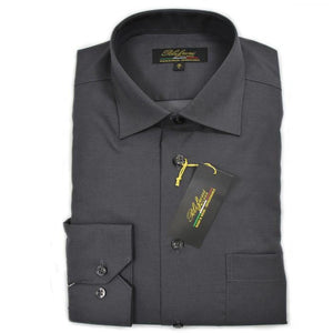 Polifroni Milano | Charcoal Cotton Dress Shirt