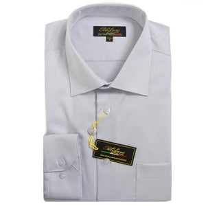 Polifroni Milano | Silver Cotton Dress Shirt