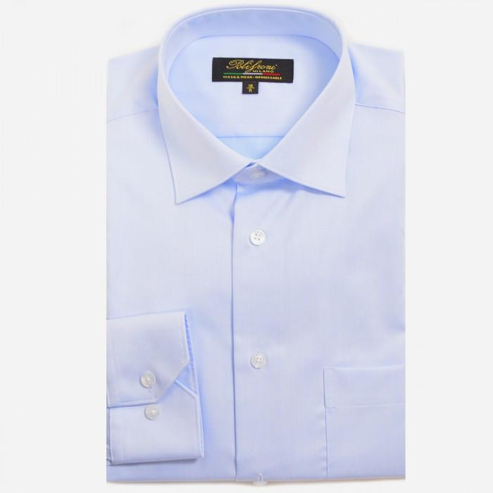 Polifroni Milano | Light Blue Cotton Dress Shirt