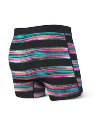 Saxx Vibe Men's Underwear Boxer - Pulled Stripe Black