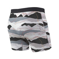 Saxx Vibe Men's Underwear Boxer - Trail Map Black